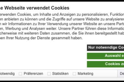 Der neue Cookie Banner - Was Sie jetzt tun müssen!
